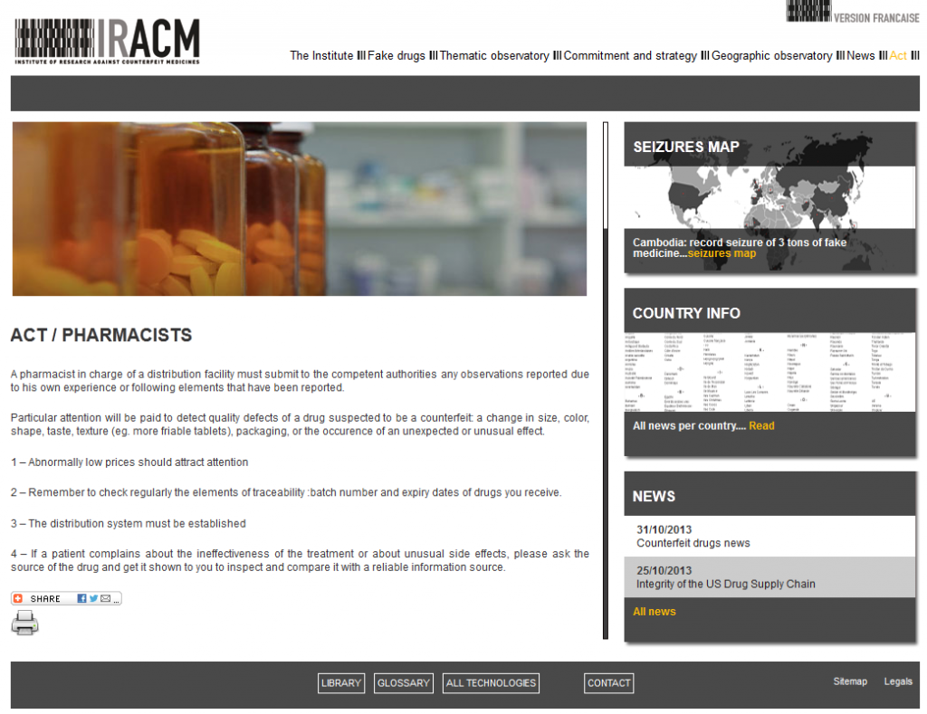 IRACM – ACT: If you are a pharmacist