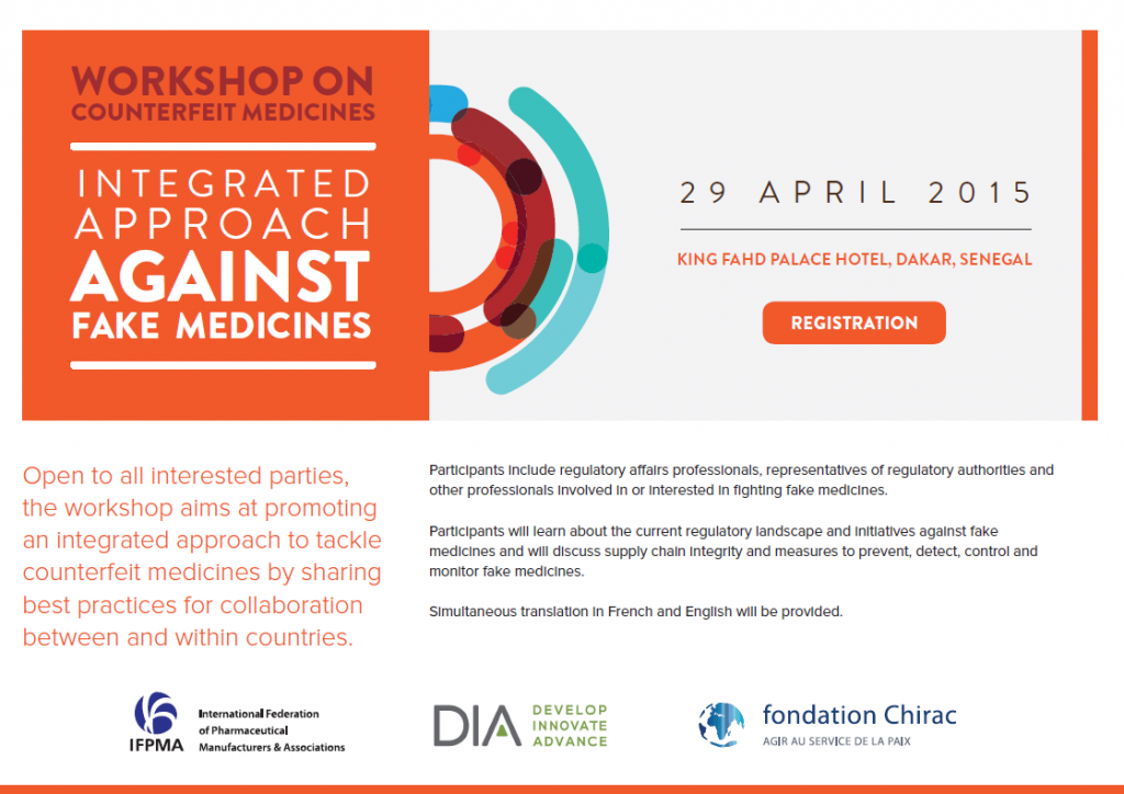 Workshop in Dakar: Integrated approach against fake medicines