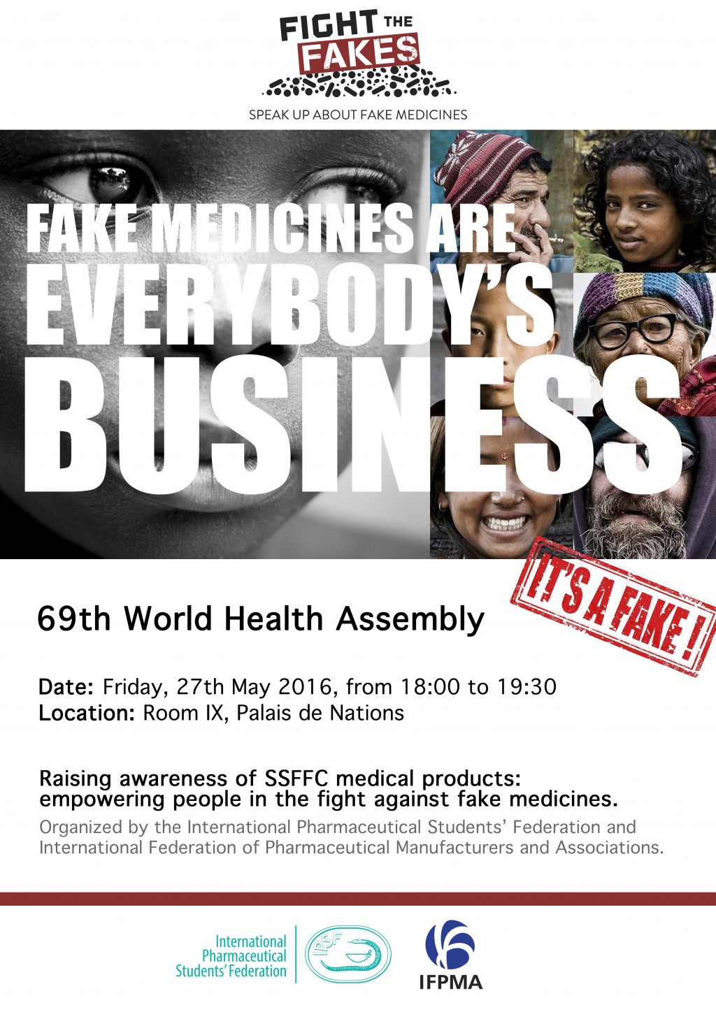 Fight the Fakes at World Health Assembly 69