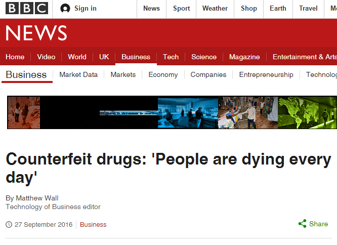 BBC Counterfeit drugs: 'People are dying every day'