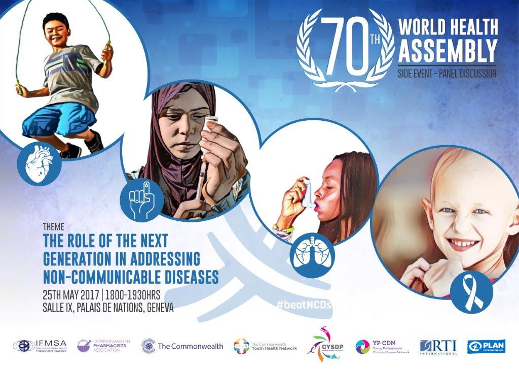 Activities at the 70th World Health Assembly