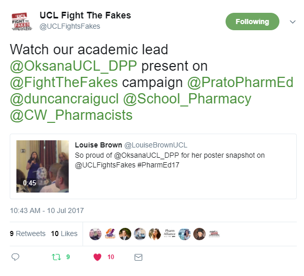Fight the Fakes at Pharmacy Education Symposium 2017