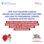 #Fakemeds will break your 💔 This #WorldHeartDay be aware of falsified cardiac medicines. Take care of your heart and speak up against falsified medicines! Discover: bit.ly/FTFforWHD