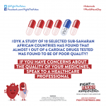 A study looking at #cardiac drugs in 10 sub-Saharan #African 🌍 countries found heart-breaking 💔 data about #fakemeds. Explore on #WorldHeartDay: bit.ly/FTFforWHD