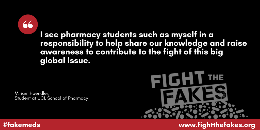 Winner of UCL Fight the Fakes photo contest shares thoughts on #fakemeds