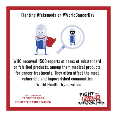 """Both generic and innovator medicines can be falsified, ranging from very expensive products for cancer to very inexpensive products for treatment of pain."" -World Health Organization (2)"