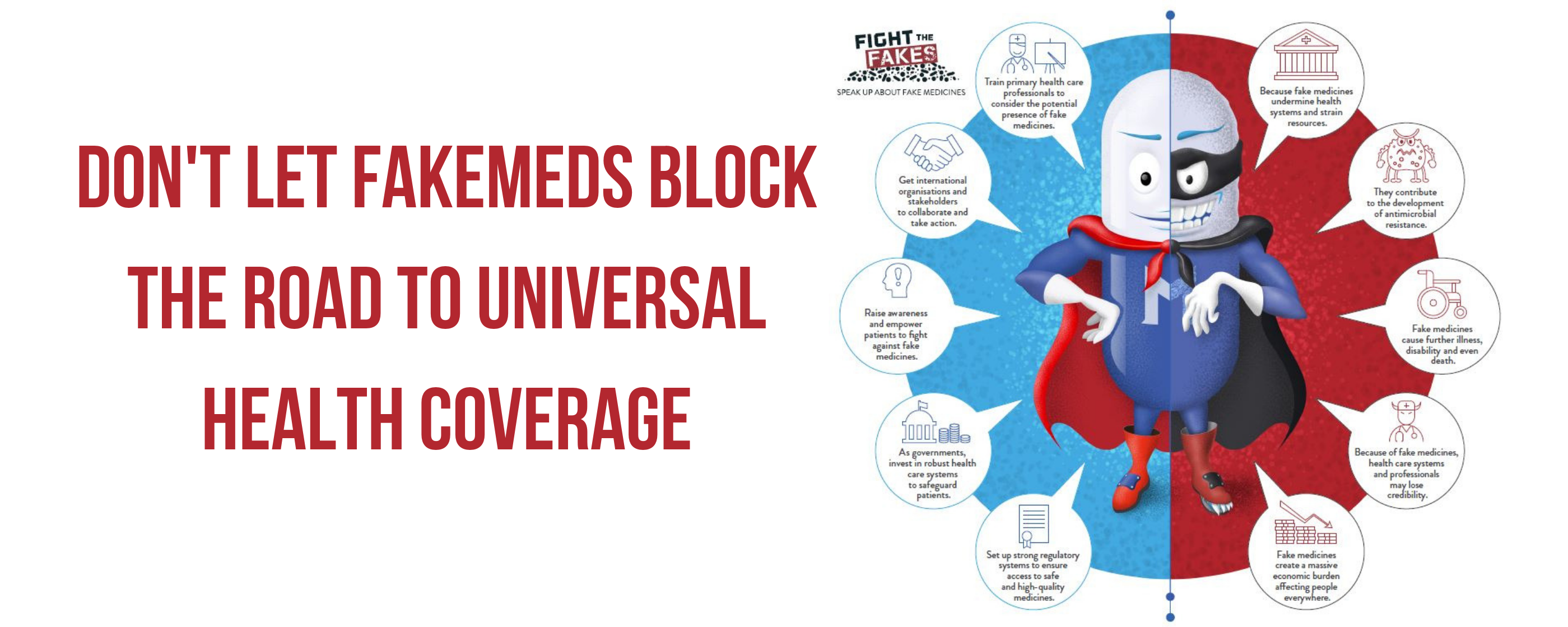 Don't let fakemeds block the road to universal health coverage!