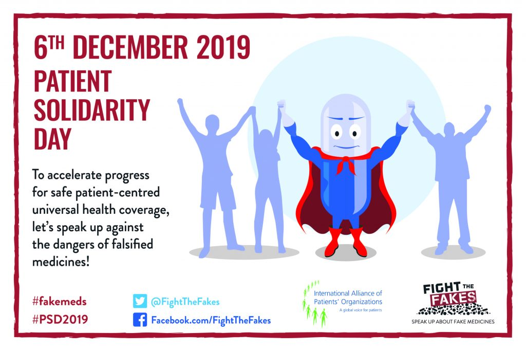 December 6 marks Patient Solidarity Day – A call for patient-centred UHC & against fake medicines!