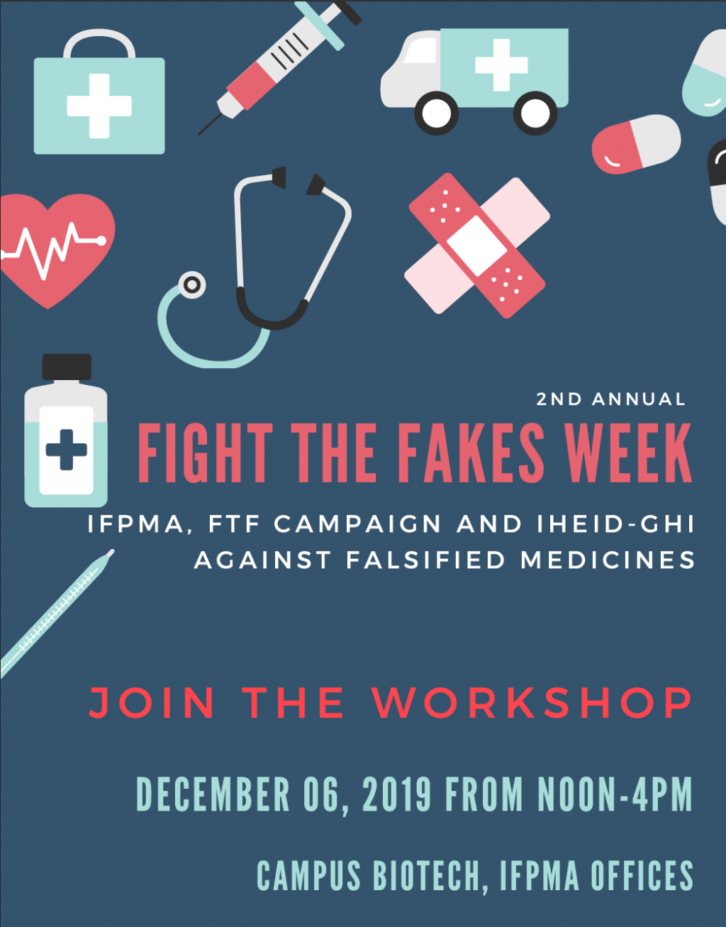 IFPMA & the Geneva Graduate Institute will fight the fakes during #FTFWeek!