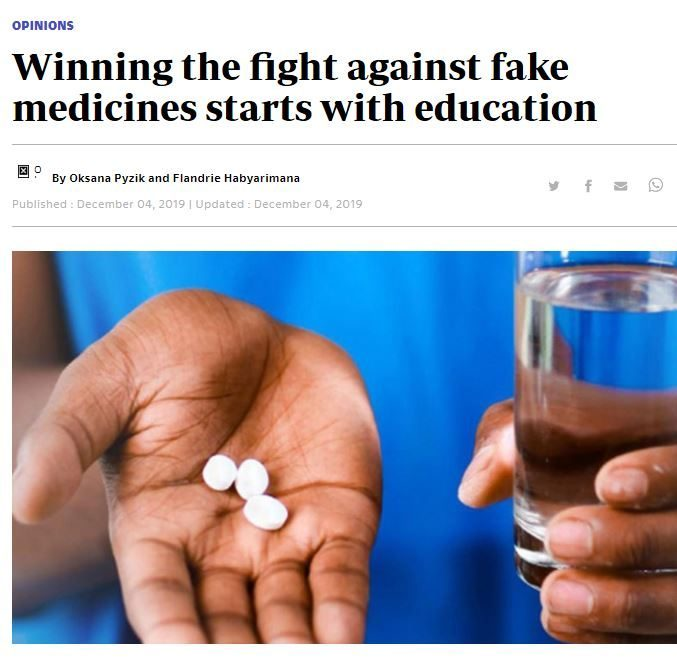 Education is key in the fight against fakemeds – a new op-ed!