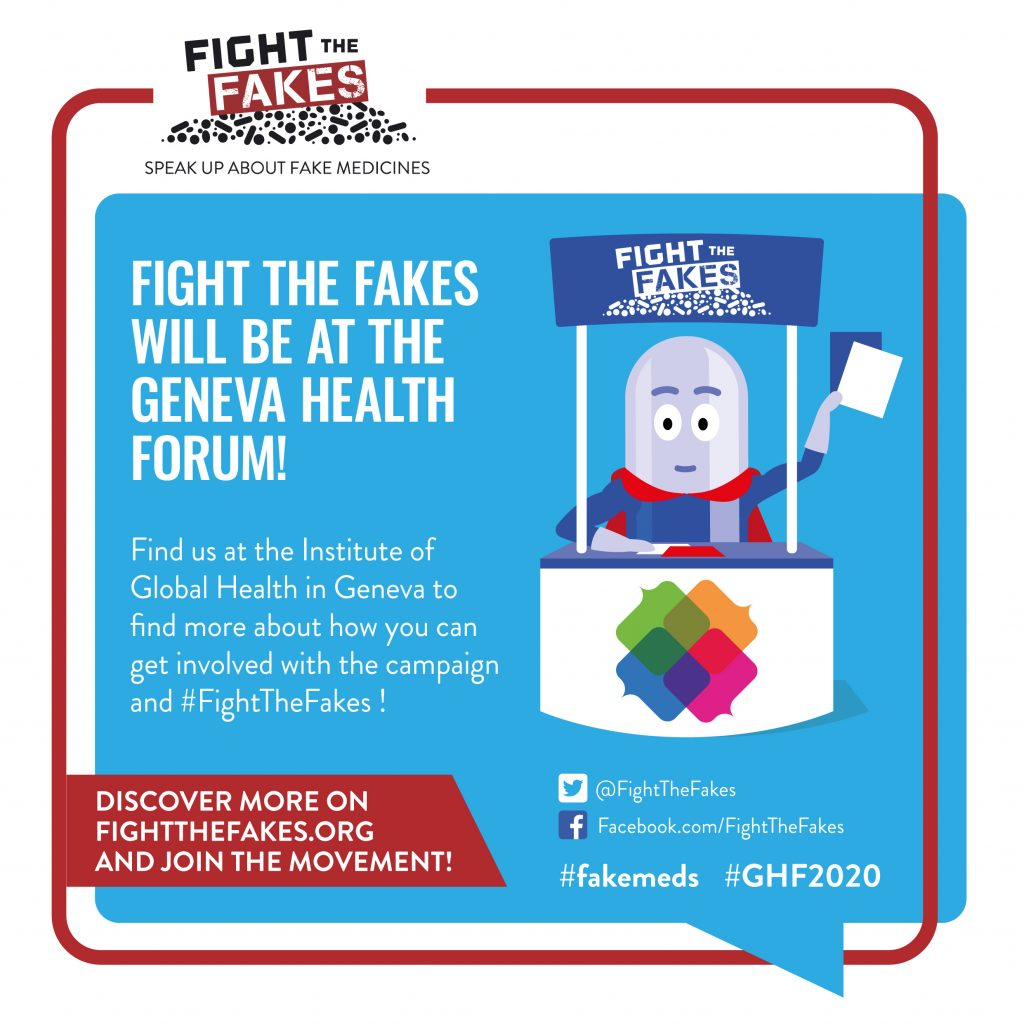 POSTPONED to 16-19th November : Bringing the fight against #fakemeds to the Geneva Health Forum