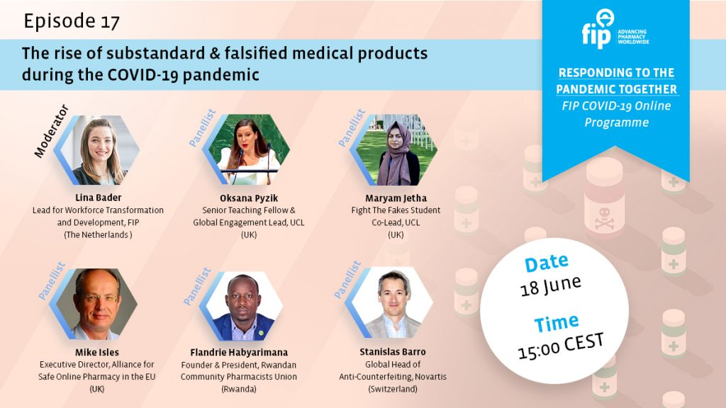 Sign up for the upcoming webinar on the rise of fake medicines during COVID-19!